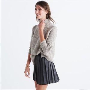 New Madewell Metallic Pleated Gray Skirt 6